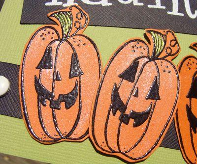 Happy haunting card - pumpkin cu
