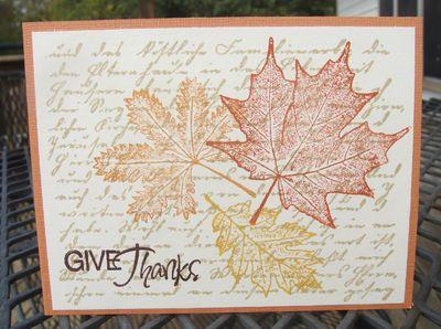 Leaves card
