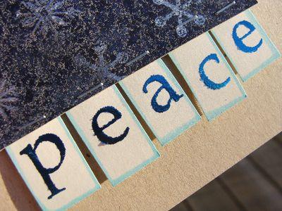 Peace card - sentiment cu