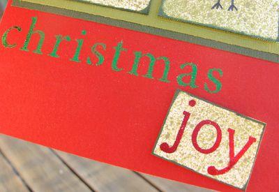 Joy x 4 card - sentiment