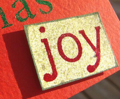 Joy x 4 card - joy